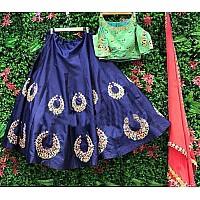 designer Navy blue embroidered Ceremonial lehenga