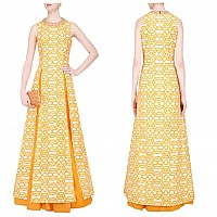 Designer Pretty look yellow kurti