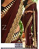 Fabulouos coffee embroidered saree