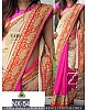 Fabulouos cream and pink embroidered saree