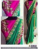 Fabulous Green embroidered Wedding saree