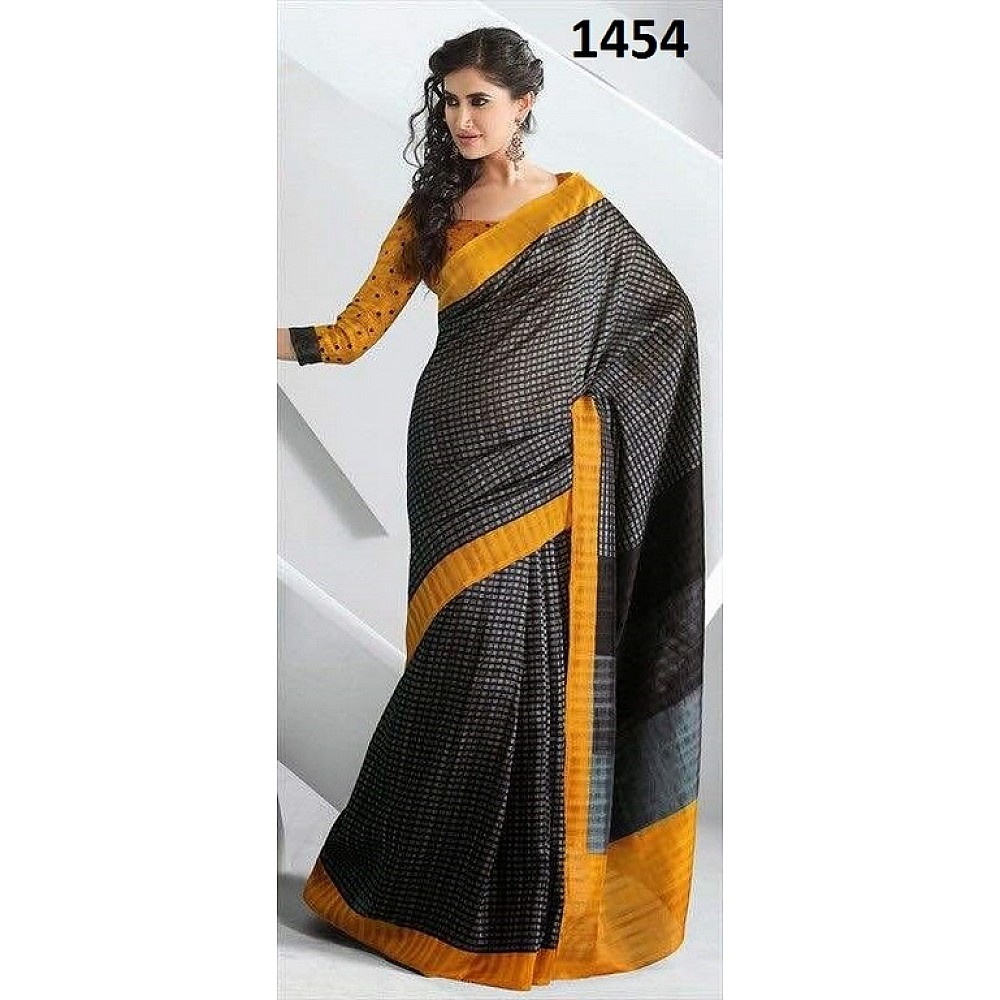 Fabulous Grey Printed Ceremonial Saree