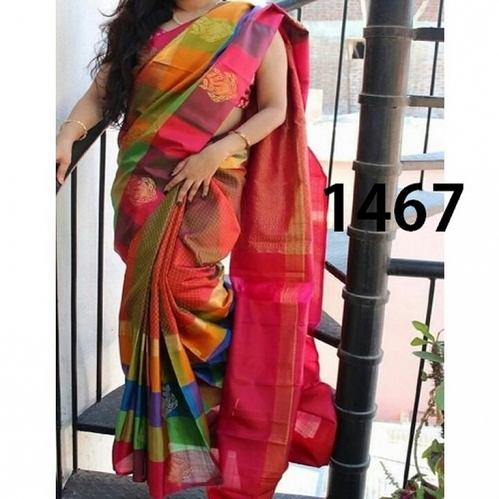 Fabulous Multicolor Printed Ceremonial Saree
