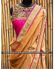 Fabulous yellow saree with designer blouse