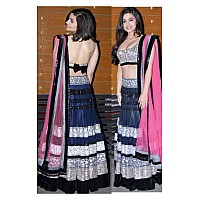 Alia bhutt semi stitched embroidered net lehenga