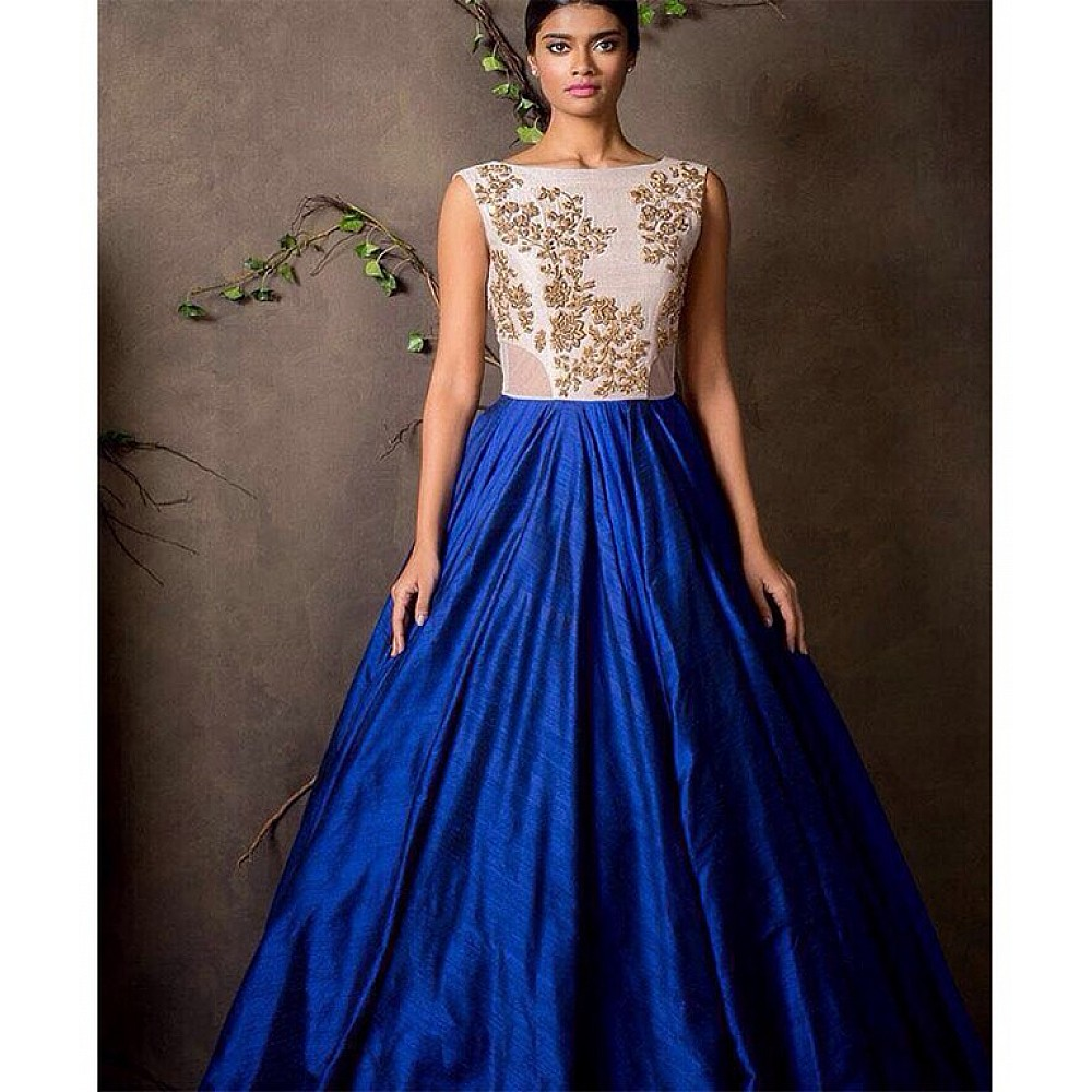 Gorgeous blue party wear lehenga