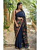 Gorgeous Blue Printed Festival Saree