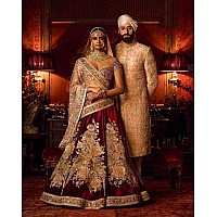 Gorgeous heavy embroidered Bridal lehenga