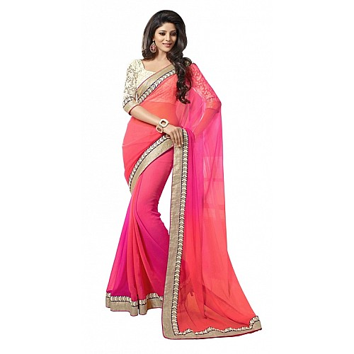 Gorgeous multicolor partywear saree
