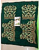 Green Georgette embroidered partywear saree with fancy blouse
