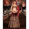 Heavy Bridal embroidered garnet maroon lehenga
