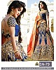 Heavy embroidered blue bridal wedding lehenga