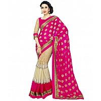 Karishma trendy georgette pink saree