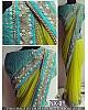 Mahaveer Designer embroidered green saree