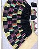 Black banglory satin multi printed festival lehenga choli
