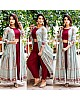 Stylist maroon plazzo salwar suit with printed shrug