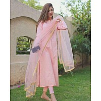 Baby pink cotton suit