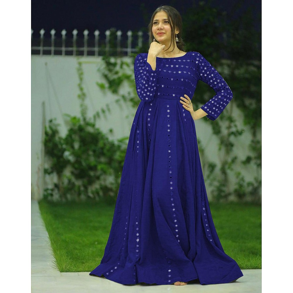 Beautiful banglory satin partywear gown