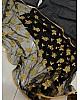 Black tapeta silk lehenga with embroidery dupatta