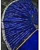 Blue tafeta silk sequence work partywear crop top lehenga