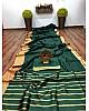 Green banarasi silk jacquard broder saree