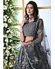 Grey net thread embroidered wedding lehenga choli
