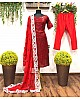 Maroon georgette sequence work salwar suit