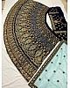 Navy blue velvet heavy embroidery work wedding lehenga