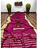 Pink banarasi silk jacquard broder saree