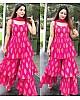 Pink crepe silk digital printed fancy plazzo suit