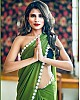 Pista green georgette plain regular wear saree