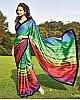 Rainbow ultra satin digital printed saree