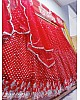 Red soft net sequence work wedding lehenga choli