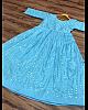 Sky blue tapeta silk paper mirror work gown