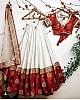 White tapeta silk wedding lehenga choli
