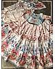 White vaishali silk digital printed lehenga choli