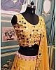 Yellow and white mehndi rasam lehenga choli