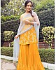 Yellow georgette designer sharara suit