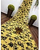 Yellow georgette digital printed saree