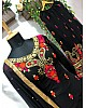 Black georgette embroidery worked salwar suit