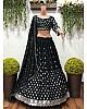 Black georgette heavy embroidered wedding lehenga choli