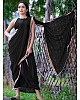 Black georgette sequence work partywear saree