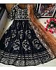 Black heavy georgette embroidered work ceremonial wear gown