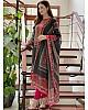 Black rayon cotton digital printed work salwar suit