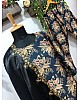 Black satin digital printed salwar suit