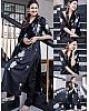 Black satin flower printed salwar suit