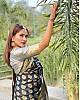 Black soft lichi silk jacquard weaving border work saree