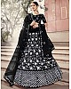 Black soft net sequence work bridal lehenga choli