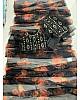 Black soft organza silk with digital flower printed work saree