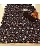 Black soft silk floral digital printed partywear saree